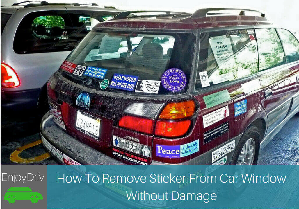 How To Remove Stickers From Car Window >> How To Remove Sticker From Car Window Without Damage